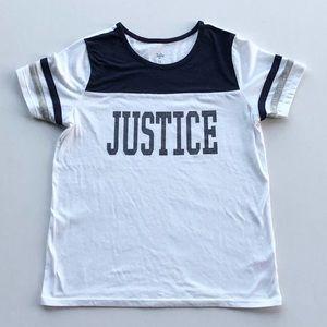 Justice Glitter Logo Tee